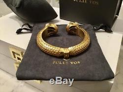 Beautiful Julie Vos Gold Cuff Labradorite