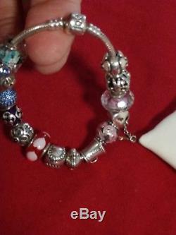 Beautiful Ladies Pandora bracelet and charms