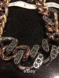 Beautiful Lanvin crystal chain link necklace Gourmette Made in France