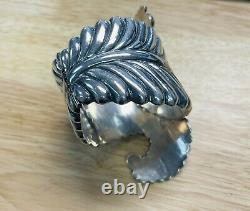 Beautiful Large Taxco E. D. P. Sterling Silver Clamper Style Bracelet