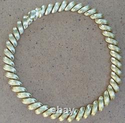 Beautiful Large Vintage St. John Gold Tone Designer Choker Statement Necklace