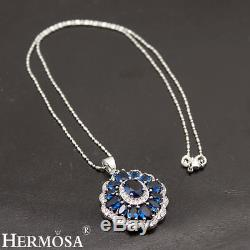 Beautiful London Blue Topaz 925 Sterling Silver Necklace Earring Ring Size 7