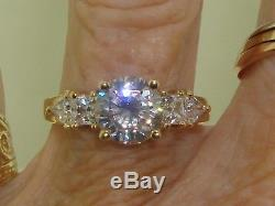Beautiful New Diamonique 14k Gold Approx. 2.5 Ctw Cz Engagement Ring! Sz 9