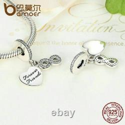 Beautiful Pandora Forever Friends Infinity Dangle Charm 100% Sterling Silver