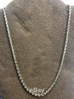 Beautiful Solid 18K Yellow Gold 750 Diamond Cut Rope Style Chain Necklace 18.25
