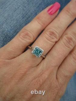 Beautiful Tacori Blue Diamond Plat Engagement Ring Style #2502PR5.5