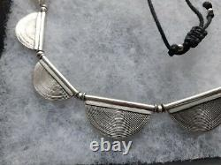 Beautiful Toast Solid Silver Scallop Necklace