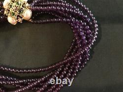 Beautiful VTG Elizabeth Taylor for Avon Forever Violet Necklace/Earrings 1994