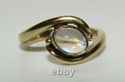 Beautiful, Vintage Antique Style 9 Ct Gold Moonstone Ring