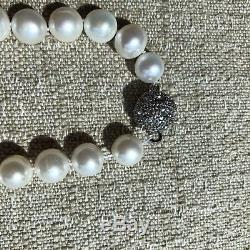 Beautiful White Pearl Necklace Mikimoto Mizuki Style