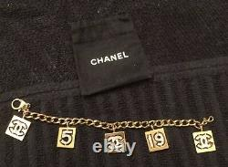 Beautiful and 100% Authentic Chanel pink crystals charm bracelet
