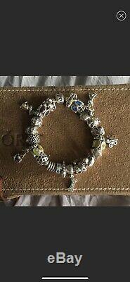 Beautiful animal themed Pandora bracelet with 25 charms (AUTHENTIC AND RETIRED)
