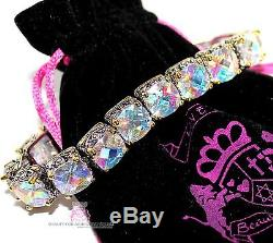 Beauty for Ashes AB Pastel Rainbow Aurora Borealis CZ Chunky Tennis Bracelet
