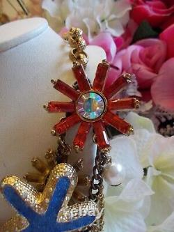 Betsey Johnson Rare Collector's Item From A Mermaid's Tail Statement Necklace