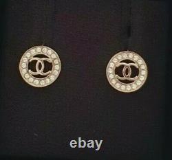 Brand New CHANEL Diamantés Earrings Studs 100% Authentic
