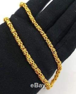 Byzantine Style Chain Modern 22k Authentic Gold Unique Unisex Handmade Jewelry