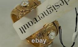 CHANEL 1986 Victoire de Castellane Gold & Gripoix Byzantine Bangle Bracelet