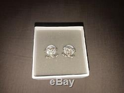 CHANEL Classic CC Shape Logo Crystal Stud Earrings Gold Tone with Box