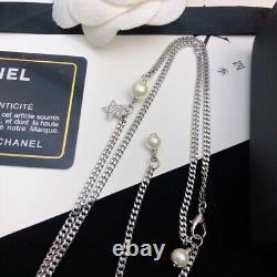 CHANEL Classic Rhinestone CC Logo Necklace CC Box