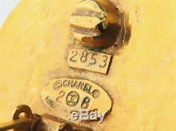 CHANEL PARIS Hoop 2 way Dangle Earrings Gold Clips 28 Vintage v1810