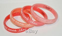 CHANEL Rouge Coco Set Of 4 Bangles VIP Beauty Counter Gifts New
