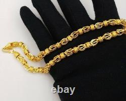 Certified 22k Gold Necklace Chain Royal Byzantine Style Chain Best Jewelry Ind