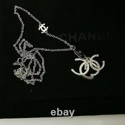 Chanel double CC Necklace Silver