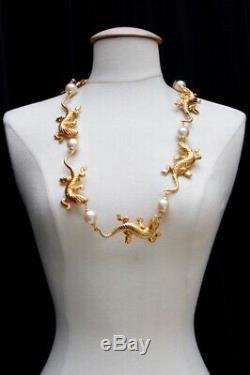 Chanel rare and gorgeous necklace with salamanders, 1990s