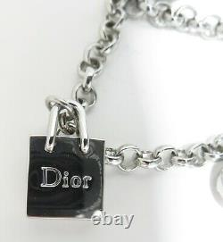 Christian Dior Beauty Charm Bracelet Silver tone 7 inch Pre-owned