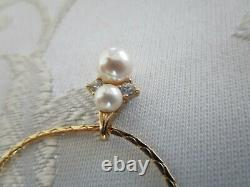 Christian Dior Pearl Crystal Necklace Gold Plated Signed Vintage NWT