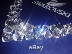 Crystal Necklace made with Genuine SWAROVSKI CRYSTAL CLEAR ELEMENTS