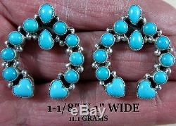DON LUCASSleeping Beauty TurquoiseSW Style NAJA925 Earrings with Hearts