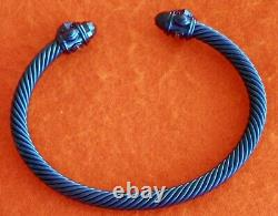 David Yurman Royal Blue Aluminum Renaissance Bracelet 5mm New