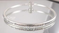 Disney BEAUTY AND THE BEAST Genuine PANDORA Silver BANGLE Bracelet 8.3/21cm NEW