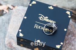 Disney Sleeping Beauty Maleficent Crystal Sterling Silver Ring Black Rhodium