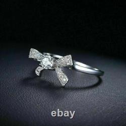 Engagement Wedding Beautiful Bow Style Ring 14K White Gold 1.85 Ct Round Diamond