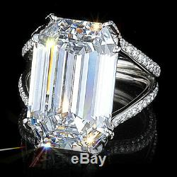 Fashion Jewelry White Sapphire 925 Silver Cocktail Party Wedding Ring Size6-10