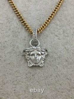 GIANNI VERSACE Medusa Chain Necklace Pendant Gold Color