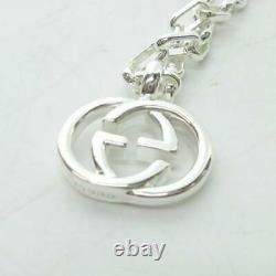 GUCCI Interlocking Necklace Pendant Silver 925 1119 KN0 Men's Women's