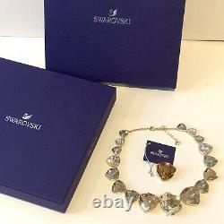 Genuine Swarovski Large March Fox Necklace Gold Tone Sparkling Boxed 5421711