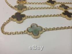 Grey mother of pearl motif necklace