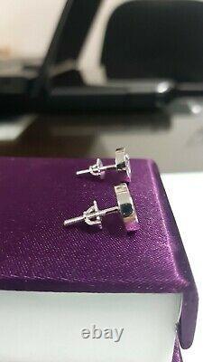 Gucci Interlocking G Design Screw Back Stud Earrings in 925 Silver For Women's