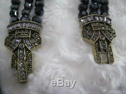 HEIDI DAUS Deco MasterClasp (Hematite) Multi-Strand Necklace (Orig. $289.95)