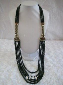 HEIDI DAUS Deco MasterClasp (Jet/Ivory) Multi-Strand Necklace (Orig. $289.95)