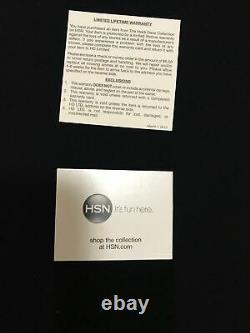 HEIDI DAUS ENCHANTED BEAUTY VIOLET ROSE DROP NECKLACE NWT in Collectors Box