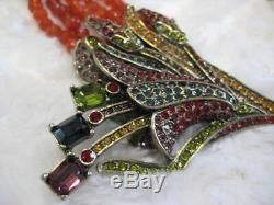 HEIDI DAUS Floral Artistry (Red) 5-Strand Beaded Necklace (Orig. $449.99)