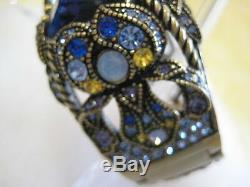 HEIDI DAUS Irresistible Impressions(Tanzanite) M/L Cuff Bracelet(Orig. $189.95)