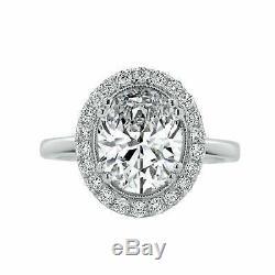 Halo Round Cut 1.20Ct Diamond Engagement Wedding Ring 14k White Gold Over Womens