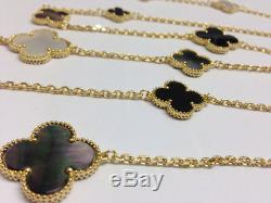 Hand Crafted 16 Mother of Pearl Clover Necklace