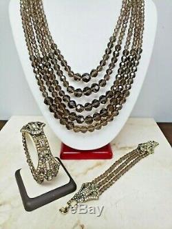 Heidi Daus Age of Elegance Multi-Strand Necklace and Bracelet Set HSN $299